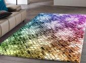 Rugrita Renkli Kristaller Dijital Baskı Halı