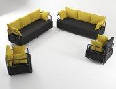 Wood House Ahsen Oturma Grubu Siyah Sarı