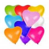 Kalp Karışık Renkli 6lı Balon
