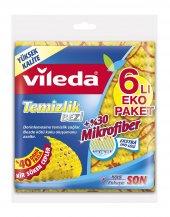Vileda +30 Mikrofiberli Temizlik Bezi 6lı Eko