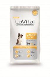 Lavital Medium Puppy Orta Irk Somonlu Açık Yavru Köpek Maması 2kg