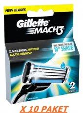 Gillette Mach 3 Yedek Bıçak 2li X 10 Paket
