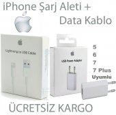 Apple İphone 5,6,7 Şarj Aleti + Data Şarj Usb Kablo