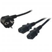 Logilink Cp101 Y Power Kablosu Erkek 2 X Iec Dişi, 1.5m