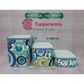 Tupperware Su Set 3lü (Turkuaz)saklama Kabı (10 Yıl Garantili