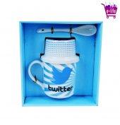 Twitter Kuş Logolu Kupa Bardak & Çerez Takımı