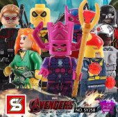 Sy 258 Yenilmezler Deadpool Serisi Lego Seti Tam 8 Figür