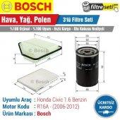 Honda Civic 1.6 Bosch Filtre Bakım Seti (2006 2012) R16a