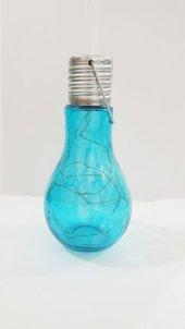 Dekoratif Ampul Şeklinde Mavi Renkli Süsleme Lambası