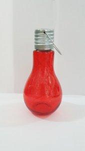 Dekoratif Ampul Şeklinde Kırmızı Renkli Süsleme Lambası