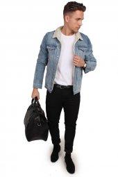 Jack Jones Erkek Yakası Kürklü Kot Ceket 12134816 Jjalvın Jacket