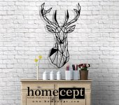 Homecept Geyik Geometrik Duvar Panosu
