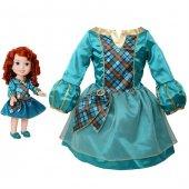 Disney Prenses Merida Kostümlü Ve Bebek Seti 2 4 Yaş