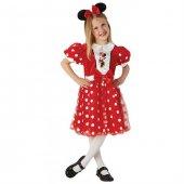 Minnie Mouse Çocuk Kostüm 5 6 Yaş Kırmızı Glitz