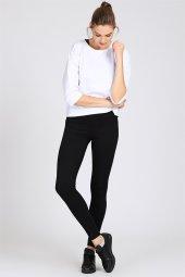Bel Çizgi Detay Siyah Kadın Pantolon Tayt