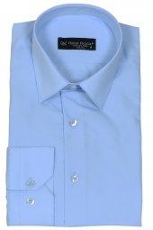 Erkek Gömlek Buz Mavisi Slim Fit Uzun Kollu Rar00177