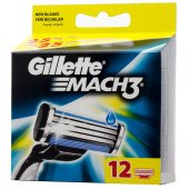 Gillette Mach 3 Tıraş Bıcağı 12li