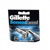 Gillette Tıraş Bıçağı Sensor Excel 5 Li Bıçak