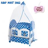 Happy Baby Plsu Mantar Beşik (Mavi)