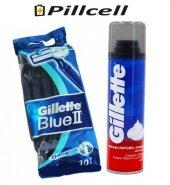 Gillette Blue 2 10lu Poşet + Gillette Klasik 200 Ml Köpük