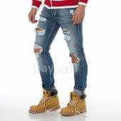 Slim Fit Yırtıklı Erkek Kot Pantolon