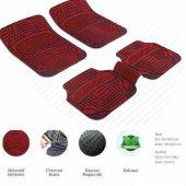 Daewoo Tico Dekor Kırmızı Oto Paspas Şık Tasarım 5 Parça