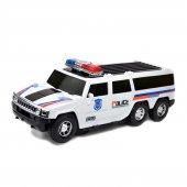 Otomatik Direksiyon Süper Oyuncak Polis Arabası Işıklı Sesli