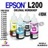 Epson L200, L210, L220 Orijinal Mürekkep 4 Renk T6641 T6644