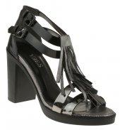 Yees 399 Çift Toka Gri Kadın Ayakkabı