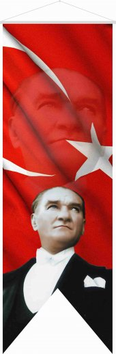 Atatürk Resmi Saten Kumaş 50x150
