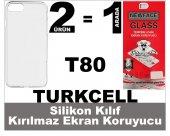 Turkcell T80 Silikon Kılıf+kırılmaz Ekran Koruyucu