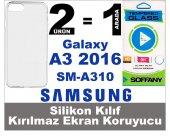 Samsung Galaxy A3 2016 Silikon Kılıf + Kırılmaz Ekran Koruyucu