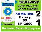 Soffany Samsung S5 Kırılmaz Ekran Koruyucu Temperli Cam