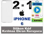 Iphone 6 Silikon Kılıf + Soffany Kırılmaz Ekran Koruyucu