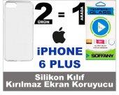 Iphone 6 Plus Silikon Kılıf + Soffany Kırılmaz Ekran Koruyucu