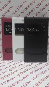 Iphone 6 Plus Çift Pencereli Deri Kılıf