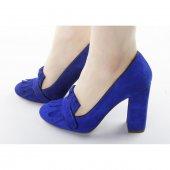 Süet Kalın Topuk Bayan Ayakkabı