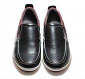Günlük Deri Erkek Ayakkabı Siyah Bordo