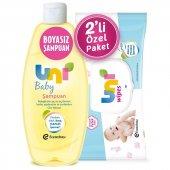 Uni Baby 750 Ml Hassas Bebek Şampuanu + Islak Mendil Hediye