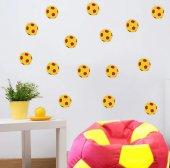 Sarı Kırmızı Futbol Topu Sticker