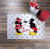 Taç Lisanslı Mickey Minnie Love Çocuk Halısı 120x180 Ölçüde