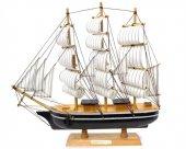 Yelkenli Ahşap Maket Gemi 25cm