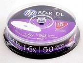 Hp Blu Ray Bd R 6x 50gb 10lu Cake Box Prıntable