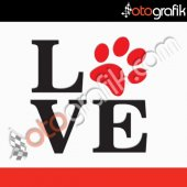 Otografik Hayvansever Love Pati Oto Stıcker