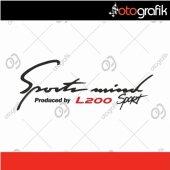 Otografik Mıtsubıshı L200 Sports Mınd Oto Stıcker
