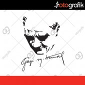 Otografik Atatürk Silüeti Ve Gazi İmza Oto Sticker Ata17