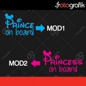 Otografik Prınce Prıncess On Board Oto Stıcker