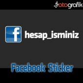 Otografik Facebook İsminize Özel Logolu Oto Stıcker