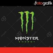 Otografik Monster Energy Renkli Moto Oto Stıcker