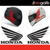Otografik Honda Kanatlı Logo Moto Oto Stıcker Set
